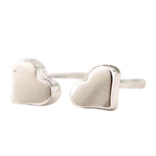 LilahV Plated Heart Stud Earrings