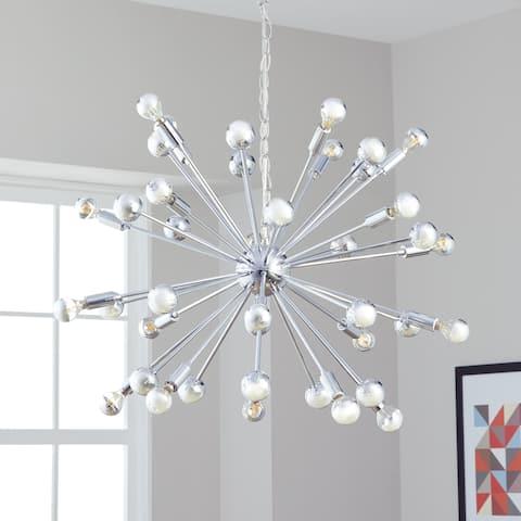 Safavieh Lighting Starburst Sputnik 20-light Chrome Adjustable Pendant Lamp