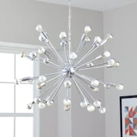 Safavieh Lighting 31-inch Starburst Sputnik 20-light Chrome Adjustable Pendant Lamp