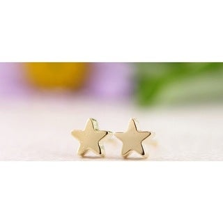 LilahV 18k Gold Overlay Star Stud Earrings