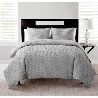 VCNY Nina Embossed Reversible Down Alternative Comforter Set
