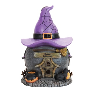 LED Witch Hat Cottage With Timer
