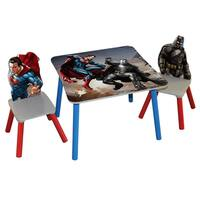 O'Kids 'Batman vs Superman: Dawn of Justice' Wooden Table and Chairs Set