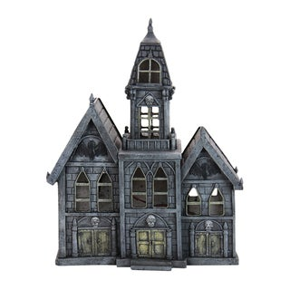 Grey Resin Haunted Mansion with Timer