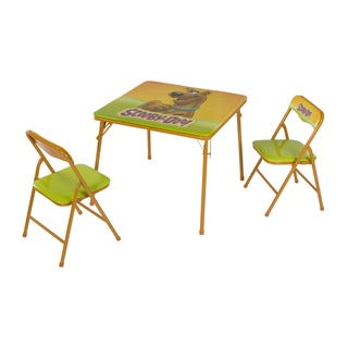 O'Kids Scooby Doo Multicolor Metal Children's Table and Chairs Set - Green