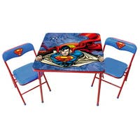 O'Kids Superman Children's Metal Table and Chairs Set (3 Pieces)