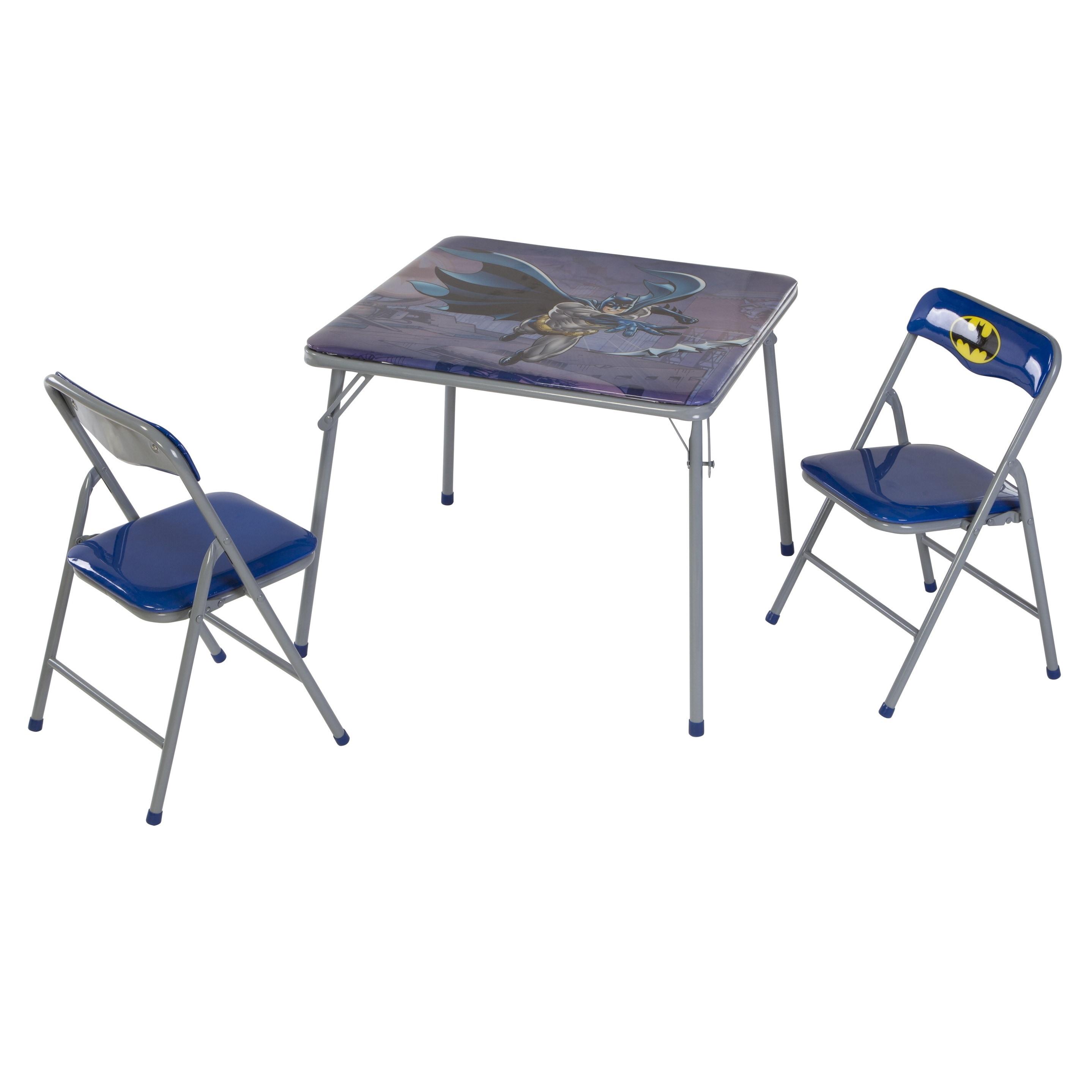 - Shop O'Kids 'Batman' Children's Boys' Metal Table And Chairs Set