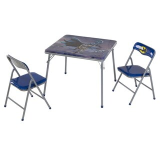 O'Kids 'Batman' Children's Boys' Metal Table and Chairs Set