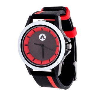 Airwalk Red Striped Strap Analog Watch