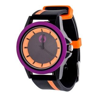 Airwalk Orange Striped Strap Analog Watch