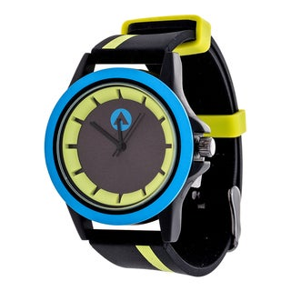 Airwalk Light Green Striped Strap Analog Watch