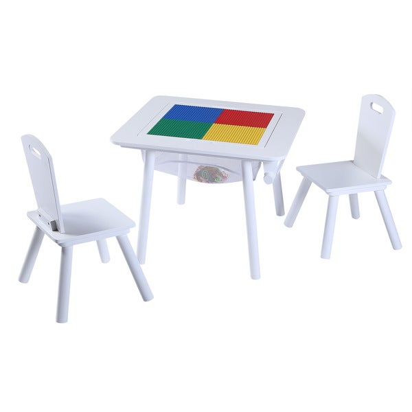 O'Kids 4-in-1 Flip-top Multifunctional Table and Chairs Set