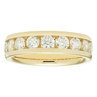 Boston Bay Diamonds 14k Yellow Gold 1 1/2ct TDW Diamond Anniversary Band ( I1-I2