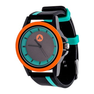 Airwalk Green Striped Strap Analog Watch