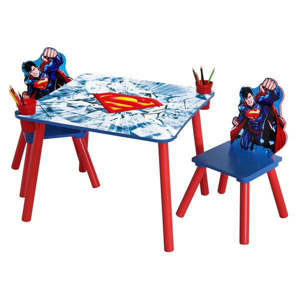 O'Kids Superman MDF Table and Chairs Set
