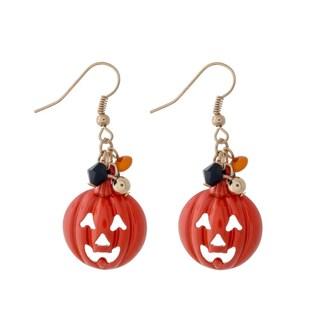Halloween Ghost Pumpkin Fishhook Halloween Dangle Earrings