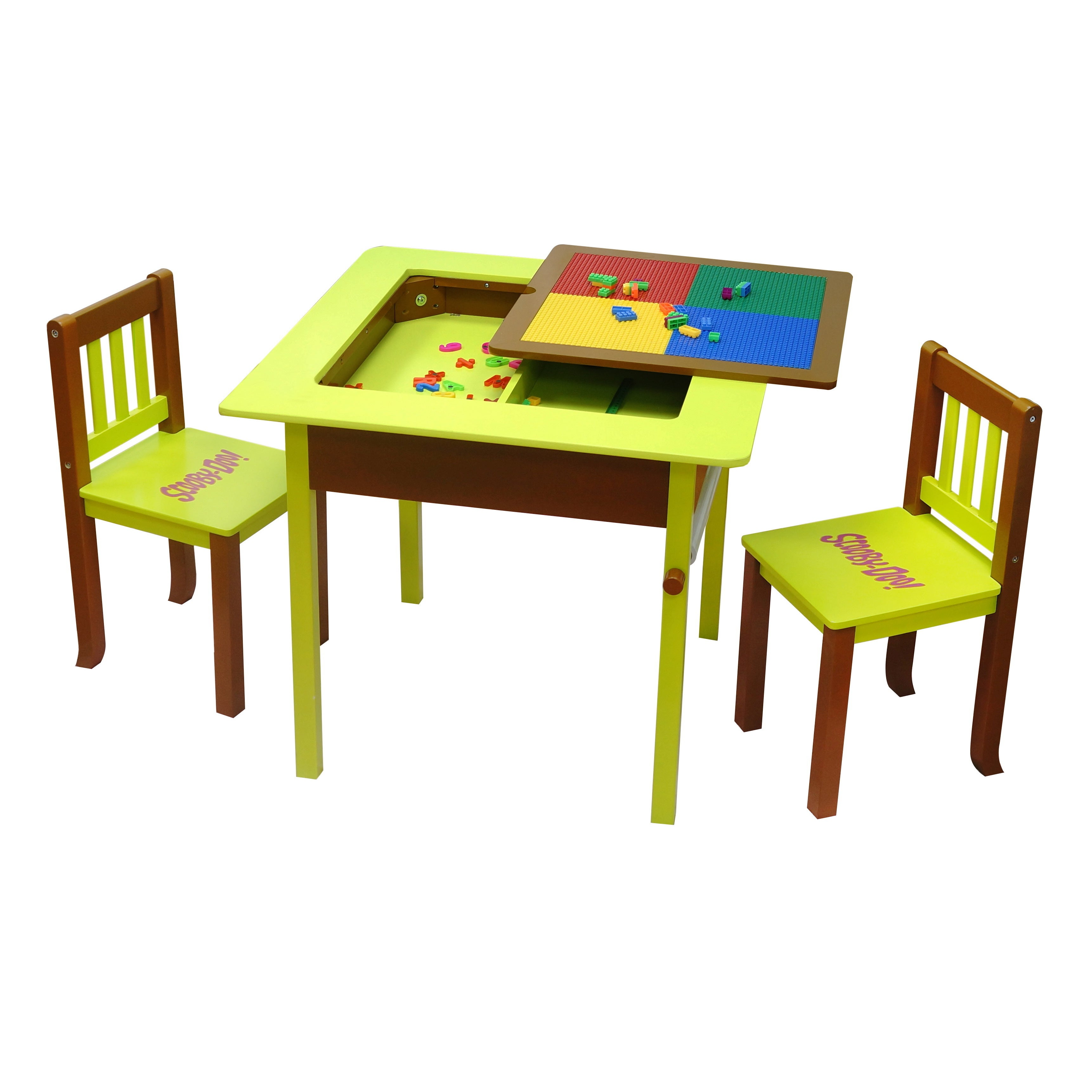 O'Kids Scooby Doo Deluxe 4-in-1 Flip Top Table and Chairs...