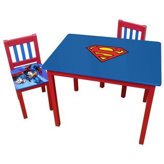 Superman Multicolor Wood Large Table and Chairs Set