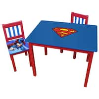 O'Kids Superman Multicolor Wood Large Table and Chairs Set