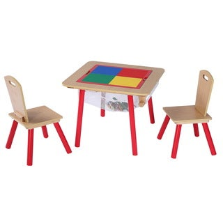 O'Kids 4-in-1 Flip Top Multi-Function Table and Chairs Set