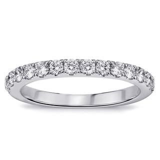 Platinum 1/2ct TDW Pave-set Diamond Anniversary Wedding Ring (G-H, SI1-SI2)