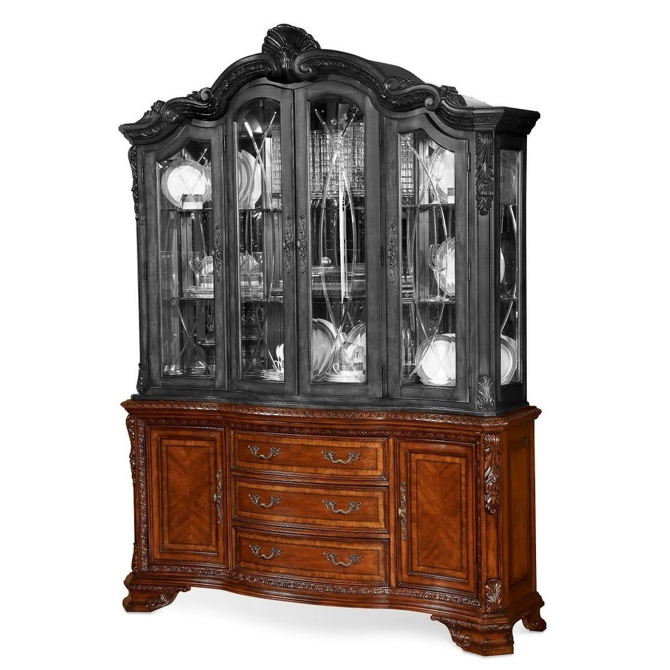Signature Design Ashley North Shore Dining Room Buffet And Furniture Old World Cherry Wood