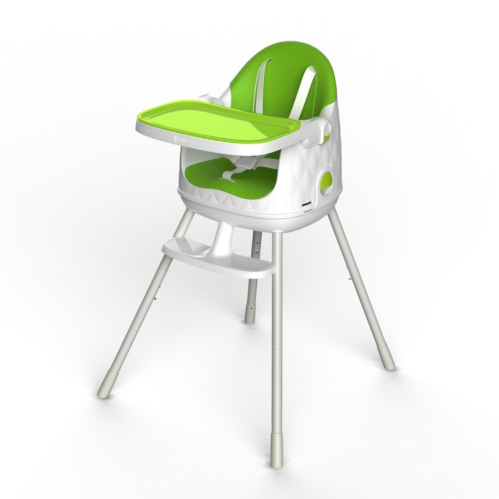 Keter Multi-Dine 3 Stage Portable Folding High Chair (Whi...