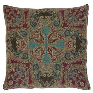 Nashik Paisley Wool and Cotton Pillow