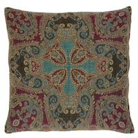 Nashik Paisley Wool and Cotton Pillow
