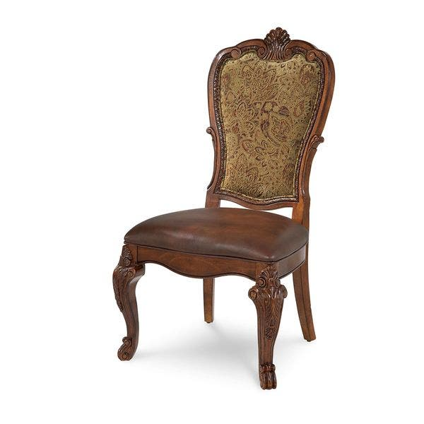 A R T Furniture Old World Upholstered Back Dining Chair Set Of 2 Overstock 12739797