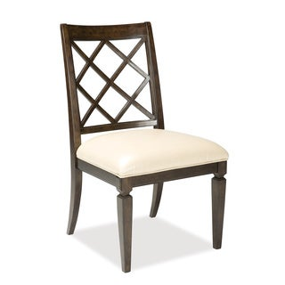 A.R.T. Furniture Classic White Leather Lattice-back Dining Chair (Set of 2)