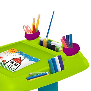 Keter Sit & Draw Kids Art Table Creativity Desk, with Arts and Crafts Storage, and Removable Cups