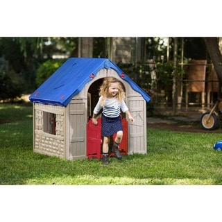 The WonderFold Keter Easy to Fold Childrenu0027s Folding Playhouse  sc 1 st  Overstock.com & Playhouses u0026 Play Tents For Less | Overstock.com