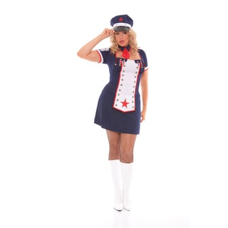 Elegant Moments Women's Polyester Naval Knockout Plus-size Costume