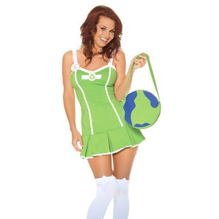 Women's Go Green Girl Cotton Costume