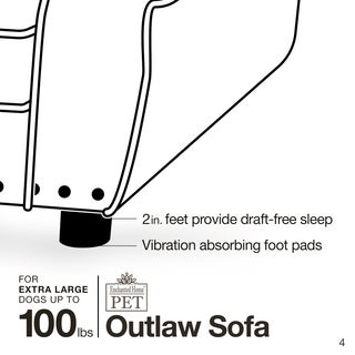 Enchanted Home Pet Outlaw Ultra-plush Pet Sofa