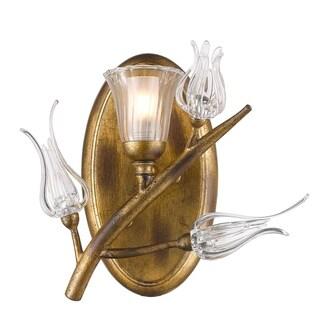 Golden Lighting's Aiyana Gold Steel 1-light Bath Vanity