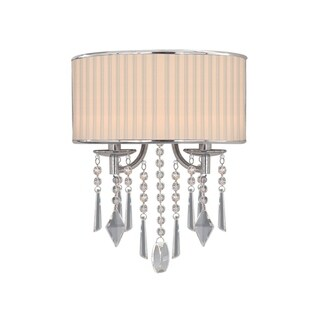 Golden Lighting Echelon Stainless Steel Hanging Crystal 2-light Wall Sconce
