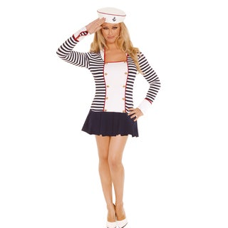 Elegant Moments Women's Sailor Costume With Dress and Hat