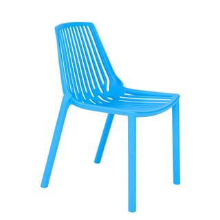 Euro Style Oasis Blue Stacking Chairs (Set of 4)