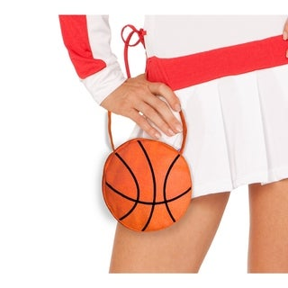 Orange Cotton and Spandex Small Zippered Basketball Purse