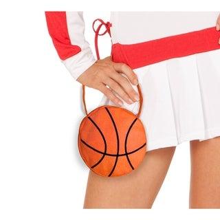 Orange Cotton and Spandex Small Zippered Basketball Purse