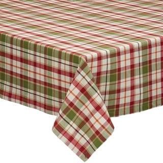 Pumpkin Patch Plaid Tablecloth
