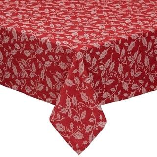 Holly Flourish Jacquard Tablecloth