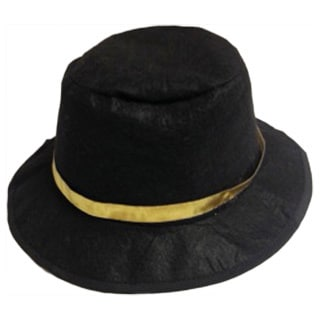 Elegant Moments Black Wool-blend Gangster Costume Hat