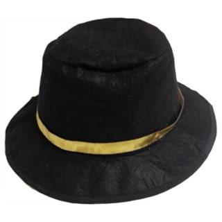 Elegant Moments Black Wool-blend Gangster Costume Hat