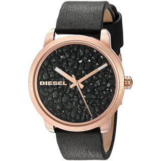 Diesel Women's DZ5520 'Flare' Black Leather Watch