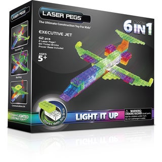 Laser Pegs 6-in-1 Plane Lighted Construction Toy
