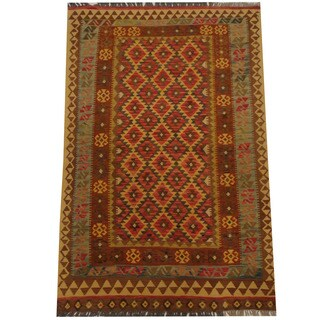 Herat Oriental Afghan Hand-woven Tribal Kilim (4'1 x 6'5)