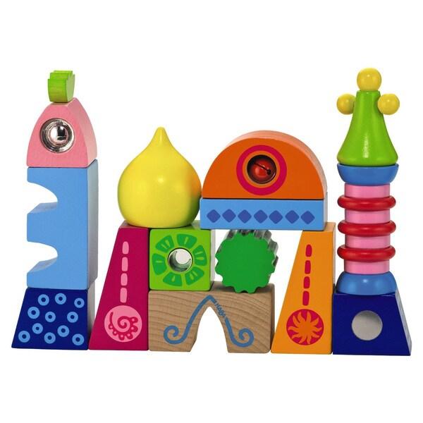 Haba World Of Play Wood Palace Toy (14-piece Block Set)